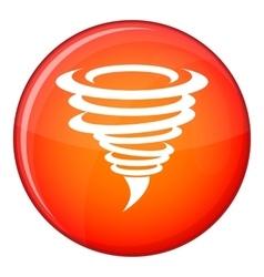 Tornado icon flat style vector image