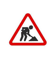 under construction road signs vector image