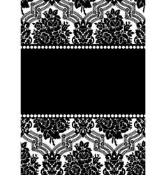 vector damask frame vector image