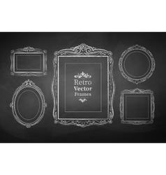 Vintage baroque frames vector image