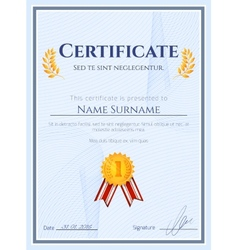 Winner certificate with seal vector