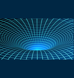 wormhole singularity and event horizon digital vector image