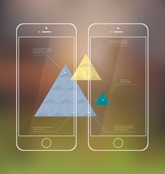 Creative template of mobile phones for vector image
