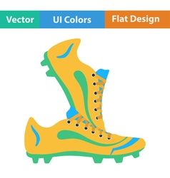 Flat design icon of football boots vector image vector image