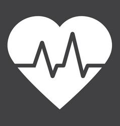heartbeat glyph icon medicine and healthcare vector image