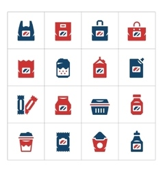 Set color icons of package vector image vector image