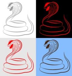 Snake cobra set vector