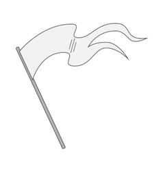 White blank Flag on Stick vector image