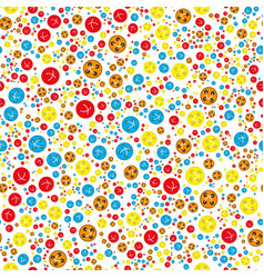 pattern with red orange blue yellow buttons vector image vector image
