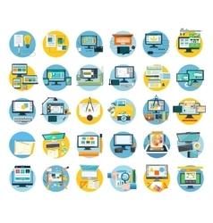 Set of Web Design Icon Flat Concept vector image