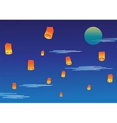 Sky lantern vector image