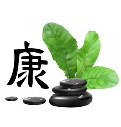 zen stones vector image vector image