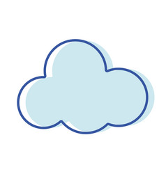 Cloud natural design and nice weather vector