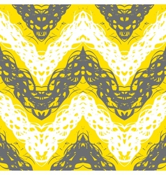 Hand drawn pattern with brushed zigzag line vector image vector image