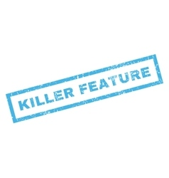 Killer Feature Rubber Stamp vector image