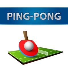 Table tennis pingpong rackets emblem vector image vector image