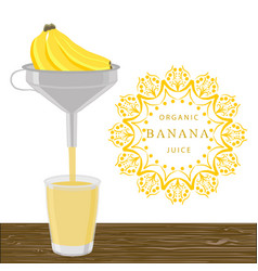 The theme banana vector
