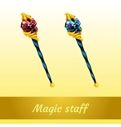 Two magical artifact of the wizard vector image vector image