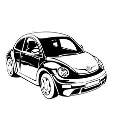vw beetle vector image
