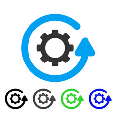 Gearwheel rotation direction flat icon vector