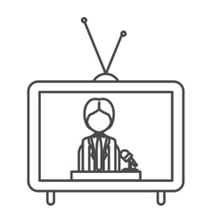 Journalist of broadcasting concept vector image