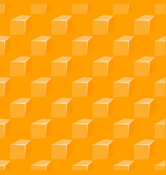seamless pattern with yellow cheese and holes vector image