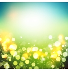Abstract green bokeh background vector