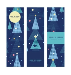 Abstract holiday christmas trees vertical banners vector