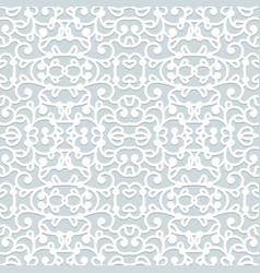 abstract swirly seamless lace pattern vector image