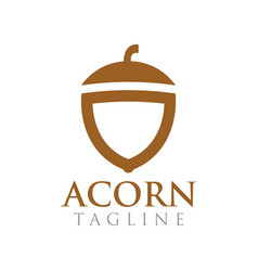 acorn graphic design template vector image