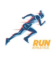 Art concept a running woman vector