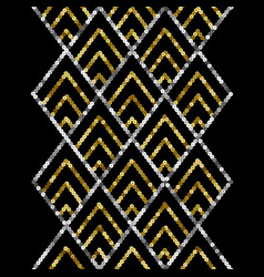 art deco golden sequin seamless border gatsby vector image