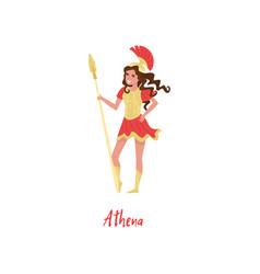 athena olympian greek goddes ancient greece myths vector image