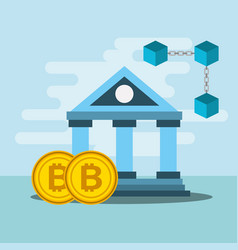 banking blockchain bitcoin crypto currency vector image