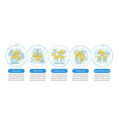 children camps infographic template business vector image