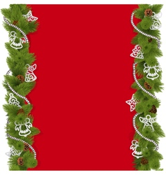 Christmas Background with Beads vector image