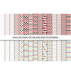 Collcetion of geometric seamless patterns vector