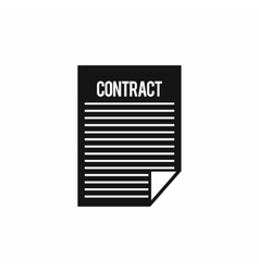 Contract icon simple style vector