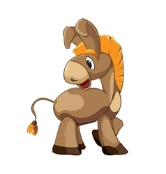 Cute donkey cartoon vector image