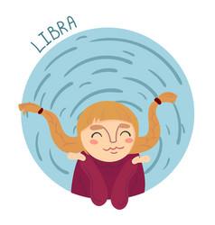 cute zodiac sign - libra vector image