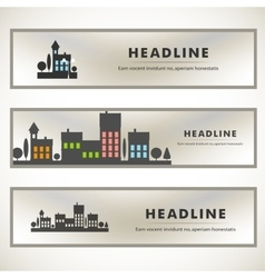 design of black silhouette cityscape eps vector image