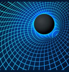 digital visualisation black hole physics vector image