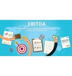 ebitda earnings before interest vector image