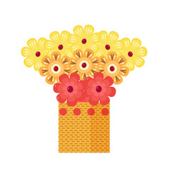 exotic fruit bouquet icon vector image