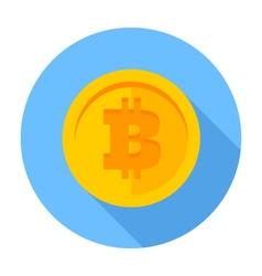 Flat icon Bitcoin vector