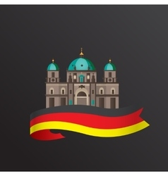 flat icon german berlin cathedral vector image