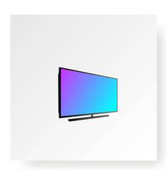 Flat smart led lcd tv television monitor logo vector
