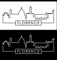 Florence skyline linear style editable file vector