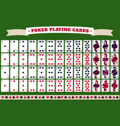 full deck of poker playing cards vector image