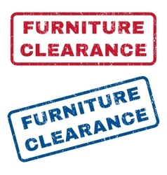 Furniture Clearance Rubber Stamps vector